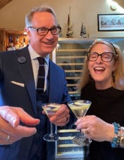 Director Paul Feig is shown here with his wife, Laurie, on his daily Instagram cocktail party to raise money for good causes during the COVID-19 pandemic.