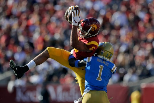 Former USC receiver Michael Pittman Jr. (6) could be a long-term pairing with receiver Kenny Golladay in Detroit.