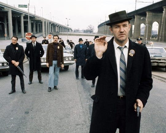 """Gene Hackman (foreground) in """"The French Connection."""""""
