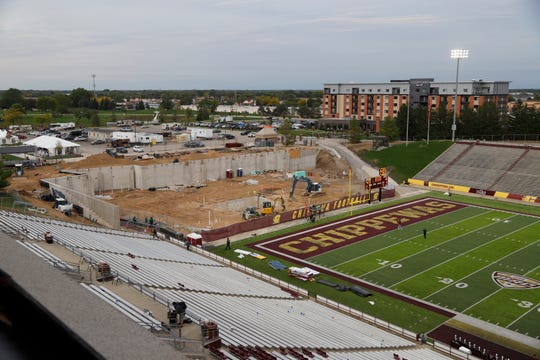 Central Michigan is going ahead with its $32-million Chippewa Champions Center but the project will be delayed.