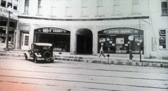 Ochs Bros. Furniture Store at 611 W. State St., pictured in the 1920 or 1930s.