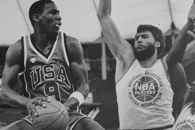 Michael Jordan (left) spent some time in Bloomington in 1984 for the U.S. Olympic Trials.
