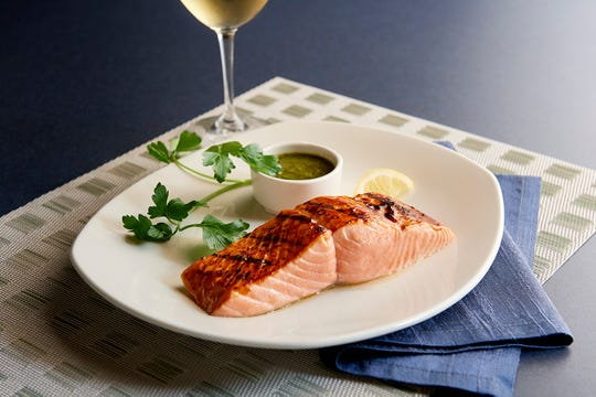 The grilled Atlantic salmon fillet is one of the entree options offered by The Oceanaire on Mother's Day.