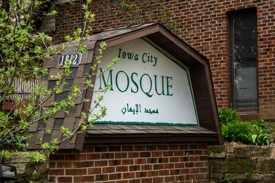 The Iowa City Mosque is seen, Friday, April 24, 2020, along Benton Street in Iowa City, Iowa.