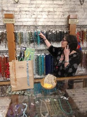 Personal shopper at Beadology in downtown Iowa City.
