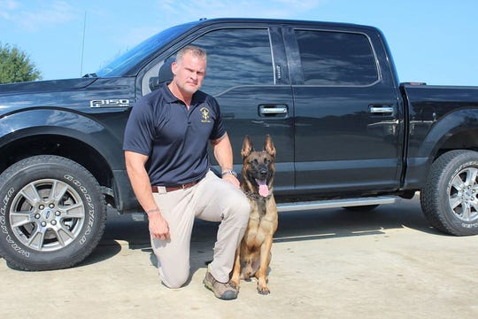 Former Mississippi State offensive lineman Wes Shivers is now a U.S. Marshals task force officer in Rankin County. He works with a K9 partner named Jack.