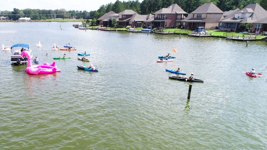 Lake Caroline features gorgeousviews as one of its amenities. Lake Caroline is one of the neighborhoods in Madison County with its own magazine.
