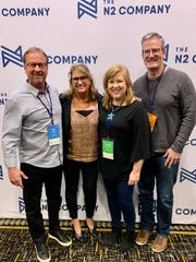 Mississippi publishers attending a N2 Publishing conference in Charlotte, North Carolina, are from left, Dees Hinton of Central Mississippi Real Producers, Suzanne Chafin of Reunion Living, Tay Morgan of Bridgewater Living and Roland Weeks of Lake Carolina Living.