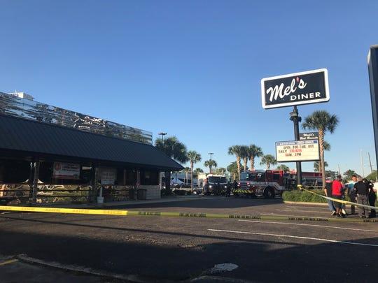 Mel's diner on Johnston Street was damaged in an April 23, 2020, fire.