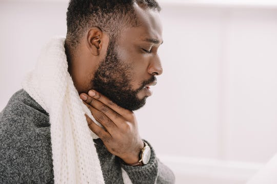 A sore throat that won't go away should be raised with a doctor for further evaluation.