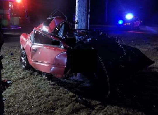 Scene of a Dec. 22, 2019, deadly crash following a high-speed crash on State 310 near Two Rivers.