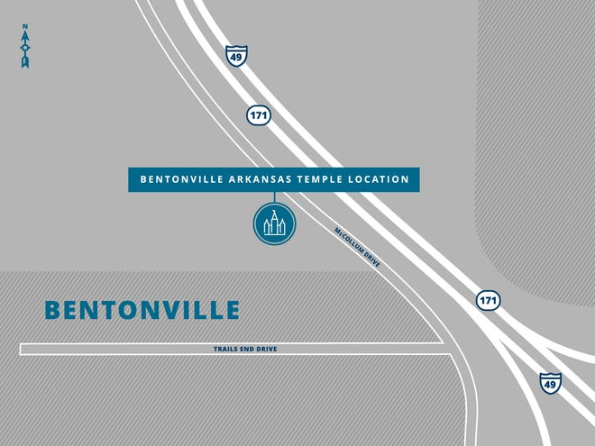 The Church of Jesus Christ of Latter-day Saints has announced the location of the Bentonville Arkansas Temple.