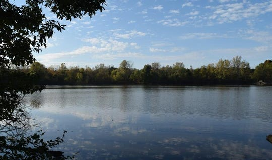 This  view of the southernmost tip of Prairie Creek Reservoir is shown from a Red-Tail Nature Preserve.