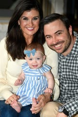 Nikki Burdine celebrates her first Mother's Day this year with daughter Andi Williams and husband Justin Williams, grateful for a healthy daughter.