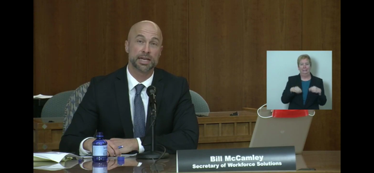 New Mexico Workforce Solutions Secretary Bill McCamley said his department had streamlined the process for logging in and applying for unemployment benefits online.