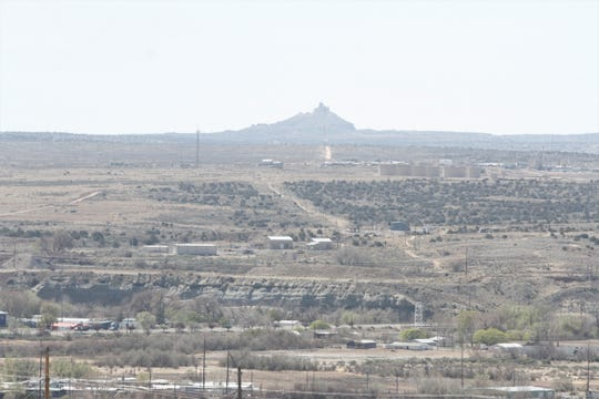 Angel Peak is seen, Friday, April 24, 2020, from the Overlook Trail in Lybertee Park in Bloomfield.