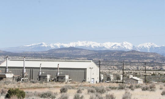 The La Plata Mountains are seen, Friday, April 24, 2020, from the Alien Run Trail Head near Aztec.