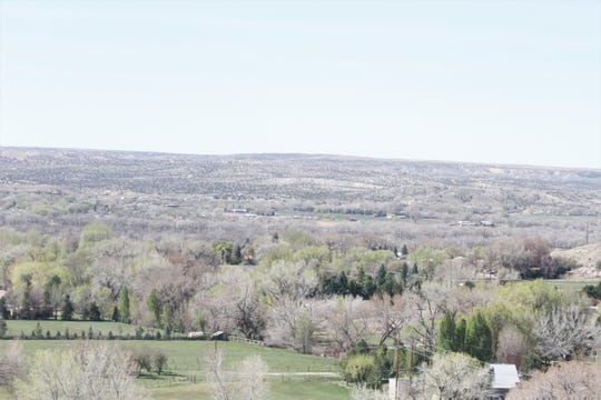 A portion of west Bloomfield is seen, Friday, April 24, 2020, from Lybertee Park.