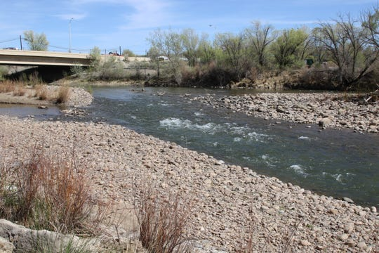 The Animas River, seen here at Boyd Park Landing in Farmington, isn't likely to see nearly as much runoff this year as it did last year, according to a National Weather Service official in Albuquerque.