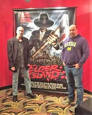 """Michael Robert Brandon (left) is pictured at the Royal Oak premiere of the movie """"Elder Island""""."""