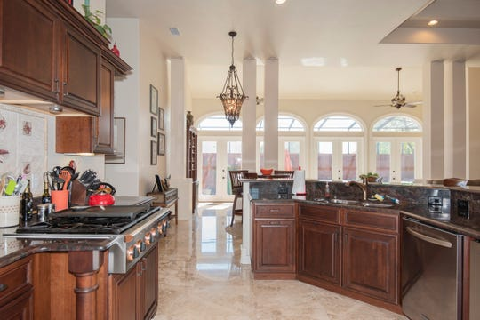 The chef's kitchen is perfect for dinner party meals.
