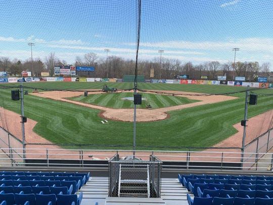 Pohlman Field in Beloit, Wisconsin, home of the Beloit Snappers of the Midwest League, restored with help from Pensacola Blue Wahoos groundskeeper Dustin Hannah amid the 2020 COVID-19 global pandemic.