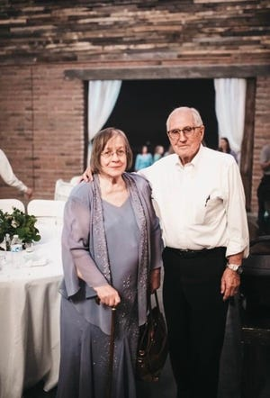 Sybil Walker, 78, tested positive for COVID-19. She's a resident at the Mi Casa nursing home in east Mesa. Walker is seen with her husband, Leif.