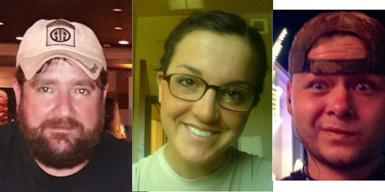 David Batten, 45, Elissa Landry, 28, and Mitchell Mincks, 24, were reported missing in Chino Valley.