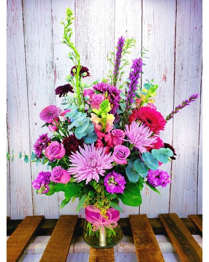 """The """"Spring Bliss"""" arrangement is available for delivery from Bobbie's Flowers in Tempe."""