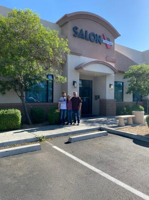 (From left) Scott, Rhonda and Larry Dunning are pictured at the Peoria location of Salon Central, at the southwest corner of 75th Avenue and Thunderbird Road.