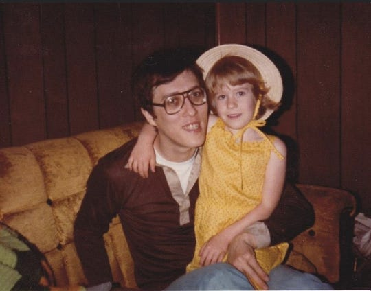 Earl Denbow Jr. and his daughter, Keri Boyer, are shown in an old family photo from 1979. Denbow died earlier this month at age 73 after he tested positive for COVID-19.