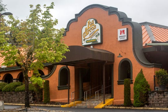 Salem's Los Arcos Mexican Grill is the second business in Oregon to have its license suspended after violating Governor Kate Brown's executive order, pictured on April 24, 2020.