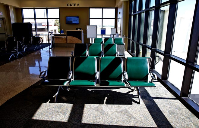 The terminal at the San Angelo Regional Airport, seen in this Friday, April 24, 2020 photo, sits empty amid drastic reductions in the level of commercial airline travel due to the coronavirus.