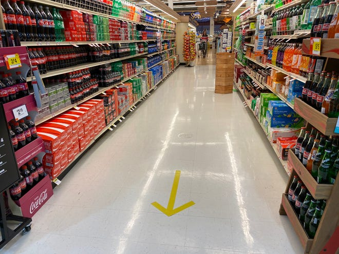 The Martin's in Staunton has one-way aisles allowing for only one direction of traffic per aisle.