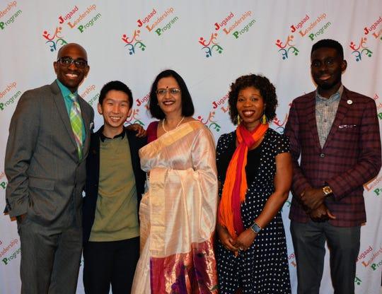 Jugaad Leadership Program board members are, from left, Ryan Daniel,  Jonathan Wong, Dr. Sangeeta Jha, Eunice Adjei and Emmanuel Oppong.