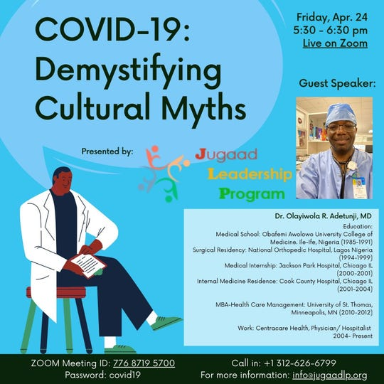 """The first session in the """"Demystifying Cultural Myths"""" series highlights physical health amid the COVID-19 pandemic."""