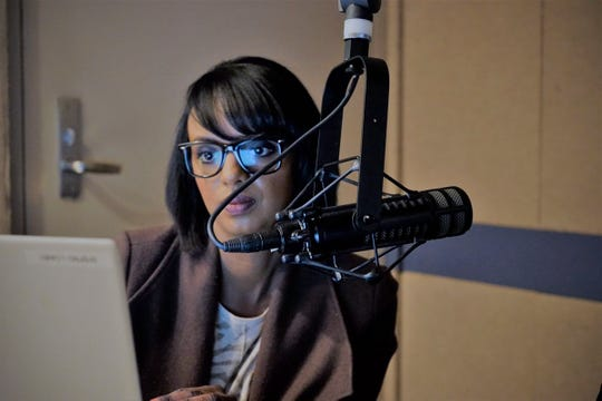 RN community health specialist Hani Jacobson takes part in a recent St. Cloud Somali Community Radio broadcast.