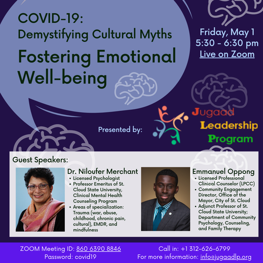 """The second session in the """"Demystifying Cultural Myths"""" series highlights mental health during the COVID-19 pandemic."""