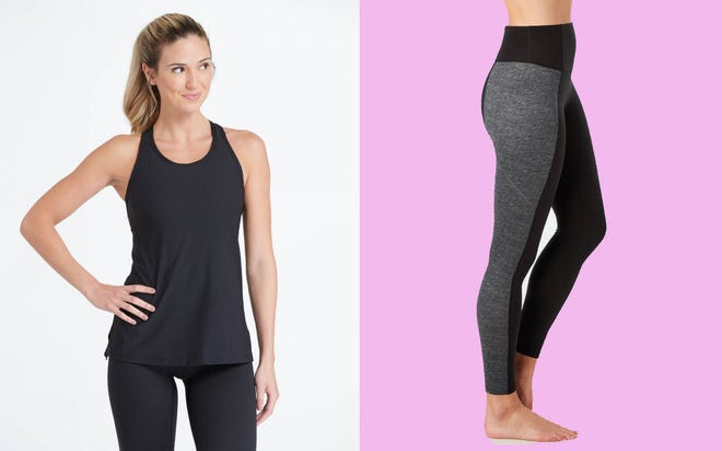 This activewear is slimming and functional.
