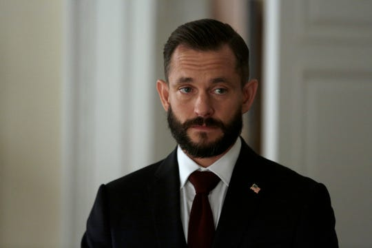 Hugh Dancy, husband of 'Homeland' star Claire Danes, plays a hawkish presidential adviser in the final season of the Showtime thriller.