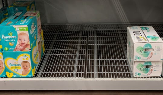 Diapers were snatched up in coronavirus panic buying.