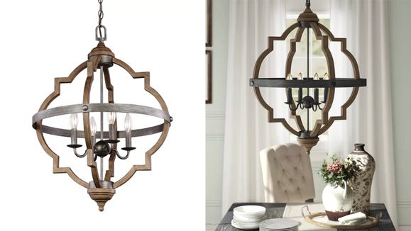 This geometric chandelier is on sale right now thanks to this sale.