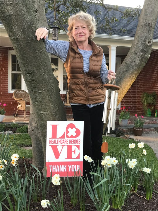 Jane Ridley  of Haddon Township remembers healthcare  heroes and started a weekly  campaign on Tuesday nights to clap and make lots of noise in support of them. The local lang family sells the Love signs and uses the proceeds to feed healthcare workers and to donate to foodbanks.