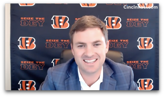 Bengals Head Coach Zac Taylor talks about second draft pick, Tee Higgins
