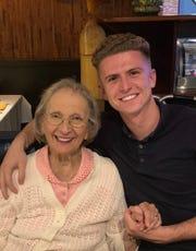 Pat Walsh with his grandmother, Elvira Atillio