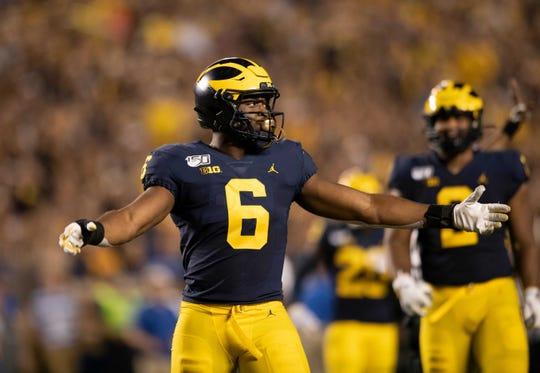 Michigan's Josh Uche had strong Senior Bowl performance.