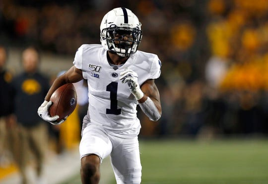 Penn State receiver KJ Hamler, a Pontiac native and former Orchard Lake St. Mary's star, was taken with the No. 46 overall pick by the Broncos.