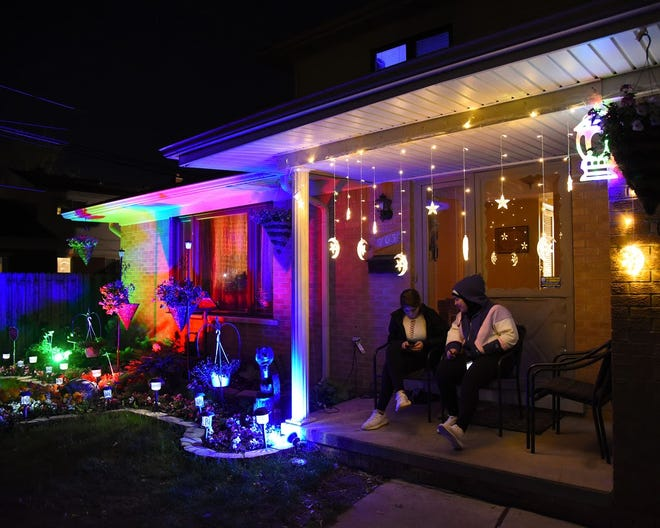 A home in Wayne County decorated for the holiday in 2019.