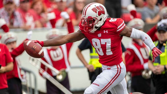 Wisconsin receiver Quintez Cephus was the Lions' first pick of the fifth round.
