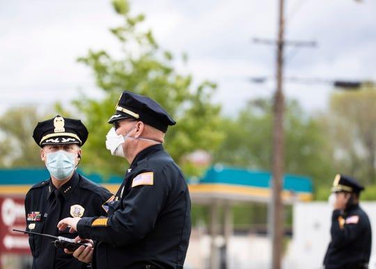 Christ Community Health Center holds drive-through coronavirus testing on Frayser Boulevard, in Memphis, Tenn., on Saturday, April 25, 2020.